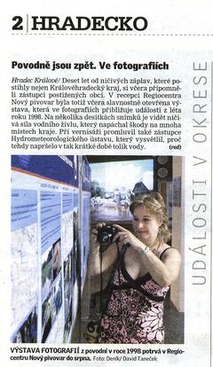 Výstava fotografií Hradecký deník